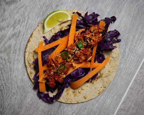 Rotkohl-Jackfruit-Tacos